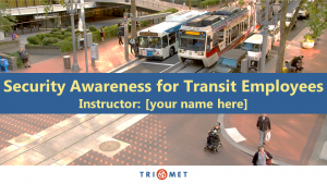 Security awareness for transit employees guide